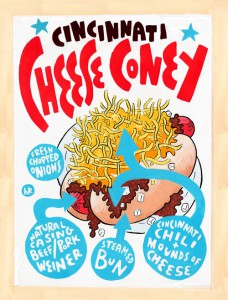 Cheese Coney original art by Hawk Krall